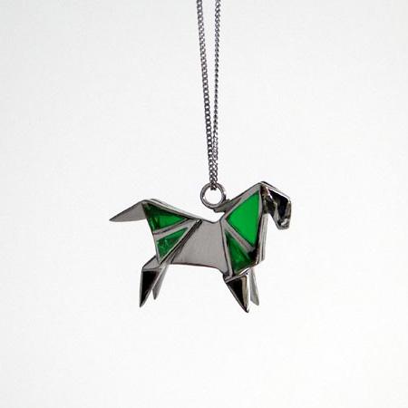 Silver Origami Jewelry
