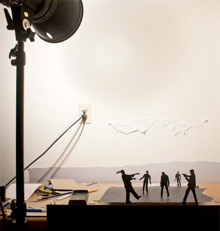 Paper Action Scene