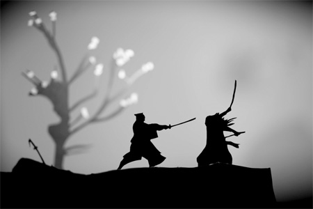 Paper Action Silhouettes by David A Reeves