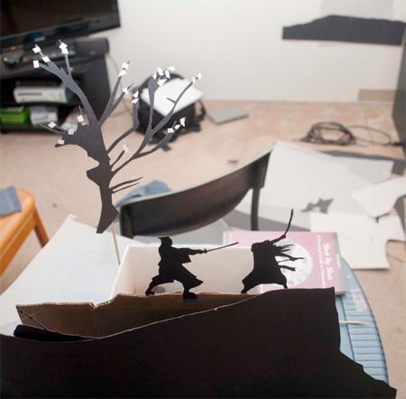Paper Cut Action Scene