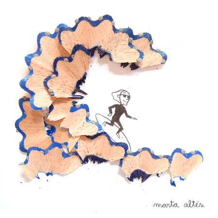 Pencil Shaving Art by Marta Altes