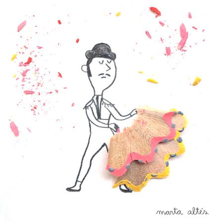 Pencil Shavings by Marta Altes