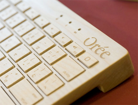 Keyboard Made of Wood
