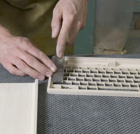 Computer Keyboard Made of Wood