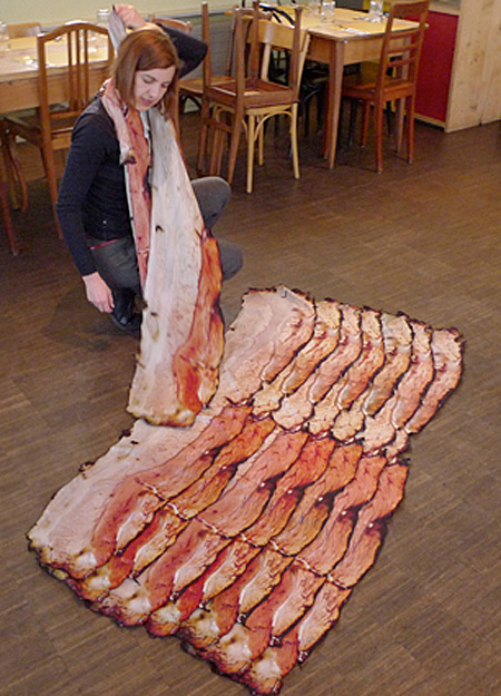 Realistic Bacon Scarf