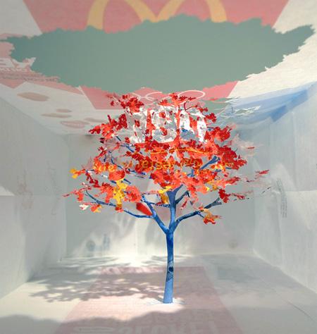 McDonalds Paper Bag Tree by Yuken Teruya