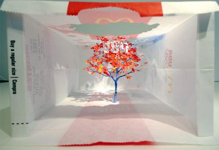McDonalds Bag Tree by Yuken Teruya