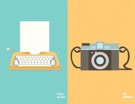 Copywriter vs Art Director Illustrations