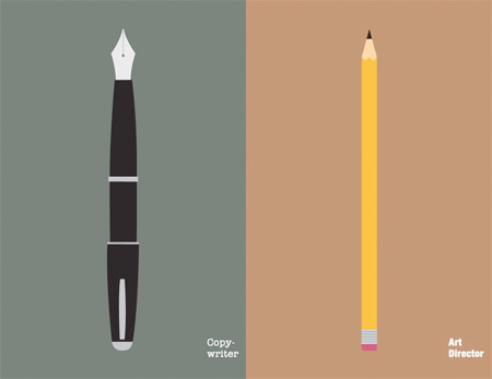 Copywriter vs Art Director Illustration
