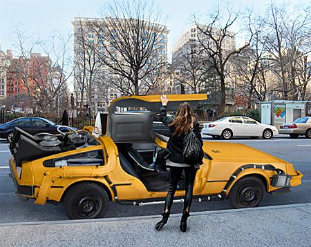 DeLorean Taxicab