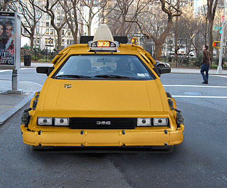 Back to the Future DeLorean Taxi