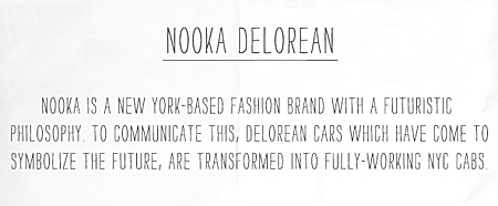 Nooka Delorean Taxi