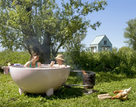 Wood Burning HotTub