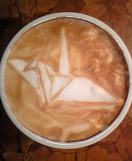 Origami Coffee Art