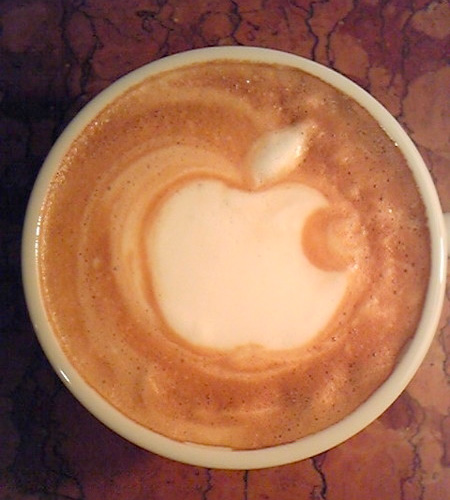 Apple Coffee Art