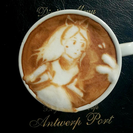 Alice in Wonderland Coffee Art