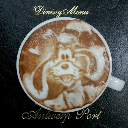 Goofy Coffee Art