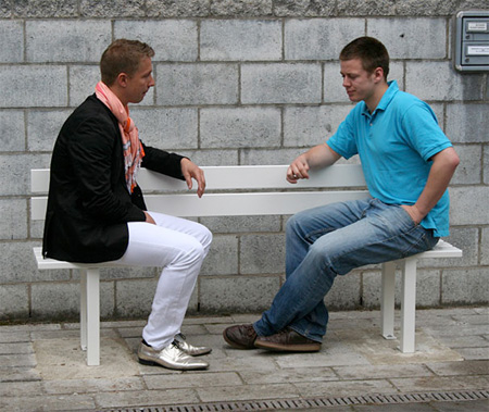 Modified Benches by Jeppe Hein