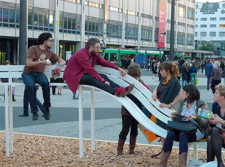 Modified Bench by Jeppe Hein