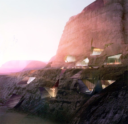 Hotel in a Mountain