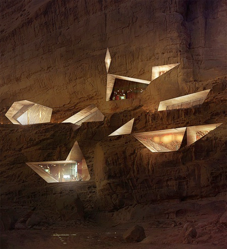 Hotel Carved into a Mountain