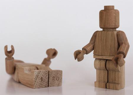 Wooden LEGO Minifigures