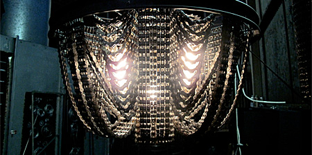 Bicycle Chain Chandeliers
