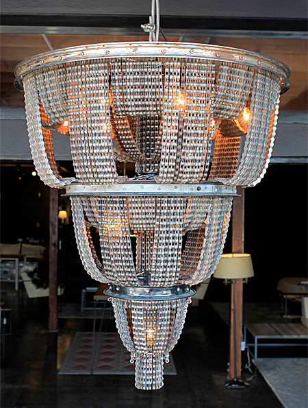 Bicycle Chain Chandelier