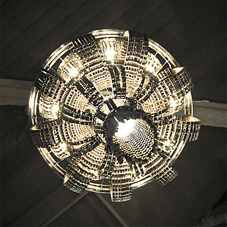 Chandelier Made from Bicycle Parts
