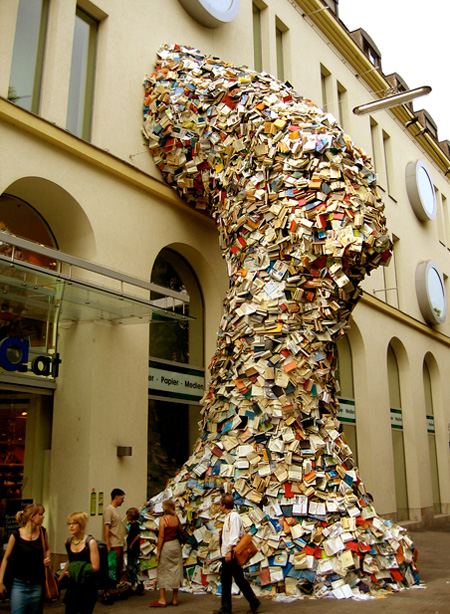 Waterfall of Books
