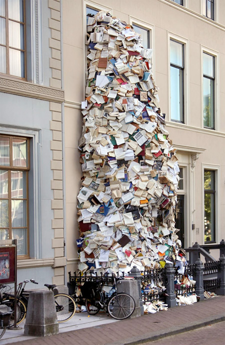 Waterfall Made of Books