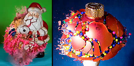 Exploding Christmas Ornaments