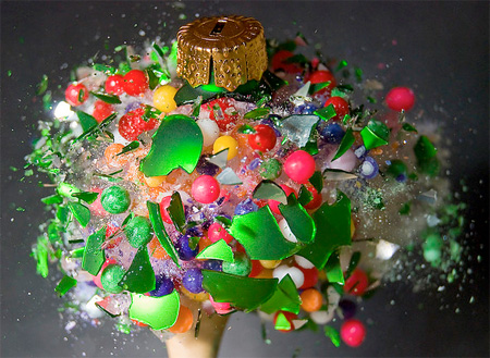 Destroyed Christmas Ornaments