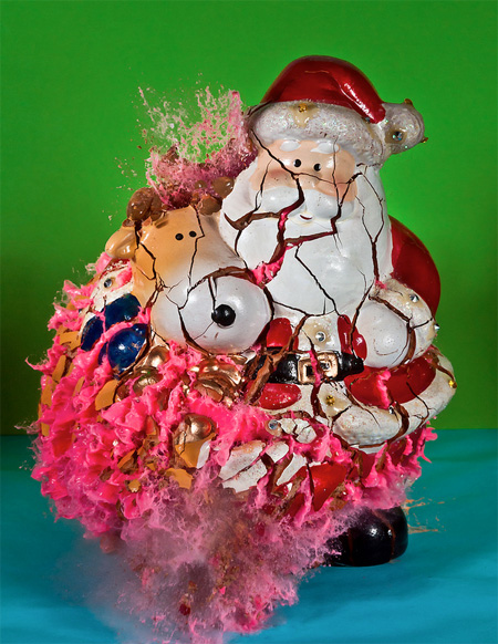 Shattering Christmas Ornaments