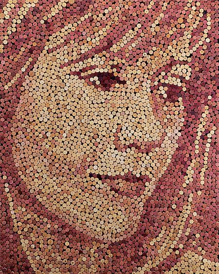Wine Cork Portraits