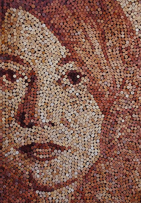 Wine Cork Painting