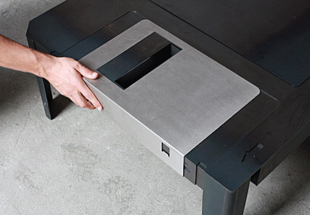 Floppy Disk Table by Neulant van Exel