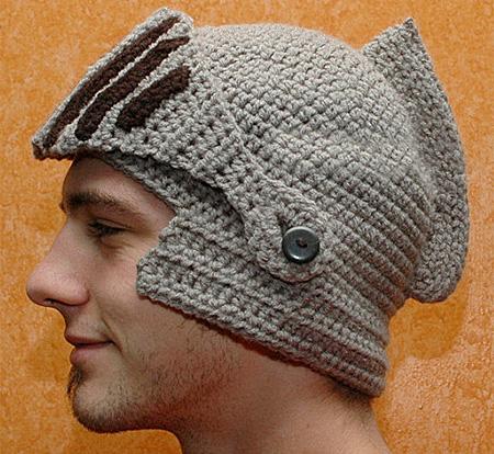 Crocheted Knight Helmet