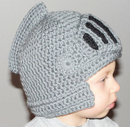 Knitted Knight Helmet Hat