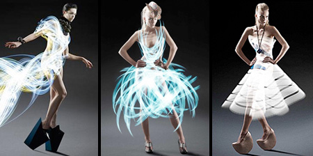 Light Painted Dresses