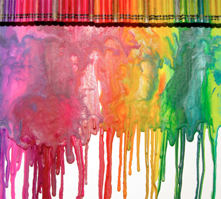 Melted Crayon Drawing