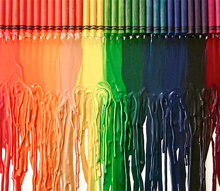 Melted Crayons Drawing