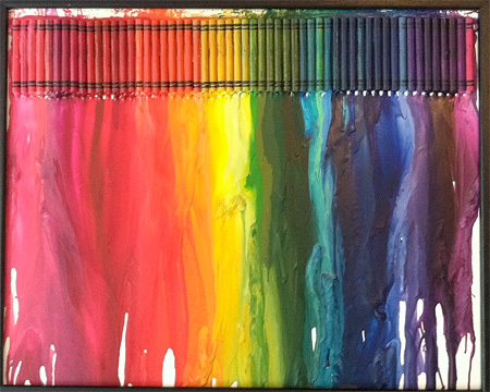 Melted Crayons Art by JKCreate