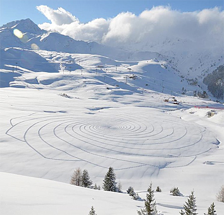 Snow Patterns by Simon Beck