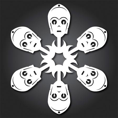 C-3PO Snowflakes