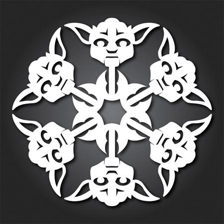 Yoda Snowflakes
