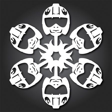 Rebel Pilot Snowflakes