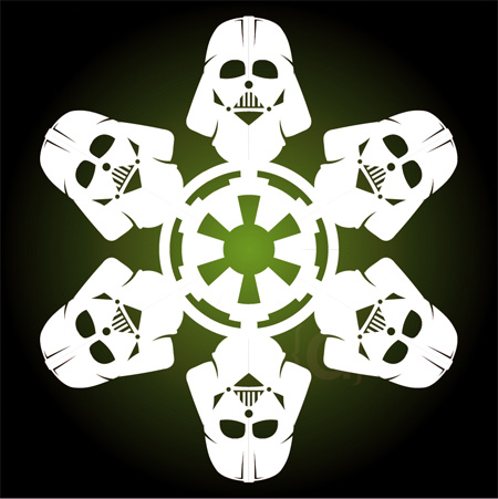 Darth Vader Snowflakes