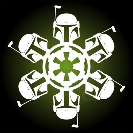 Boba Fett Snowflakes