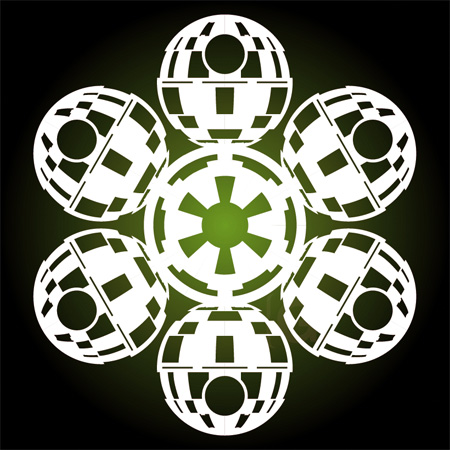 Death Star Snowflakes